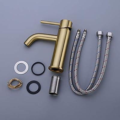 TRUSTMI Brass Single Lever Single Hole Bathroom Basin Sink Fauce