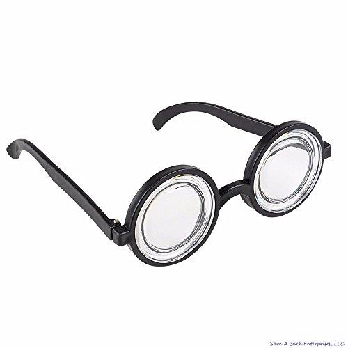 Round Bubbles Glasses Bug Eyes Specs Coke Bottle Costume Goggles -
