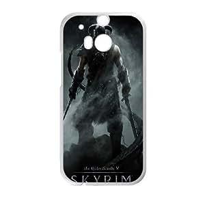 HTC One M8 Phone Case White Skyrim PLU6210477