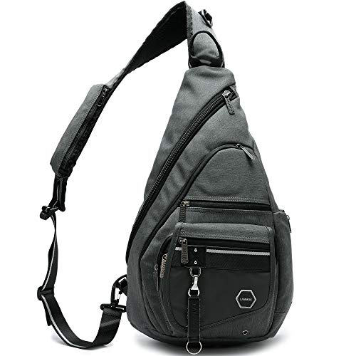 Large Sling Backpacks Bag, 14.1'' Laptop Sling Bags Chest Shoulder Backpack One Strap Multipurpose Travel Outdoors Bag for iPad Men Women
