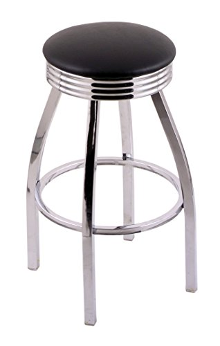 Holland Bar Stool Company C8C3C30BlkVinyl Classic Series Swivel Stool