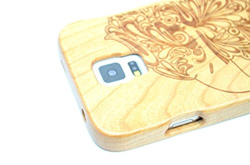 Samsung Galaxy S5 Wood Case - Cherry Wood Eagle - Premium Quality Natural Wooden Case for your Smartphone and Tablet - by BingoNature