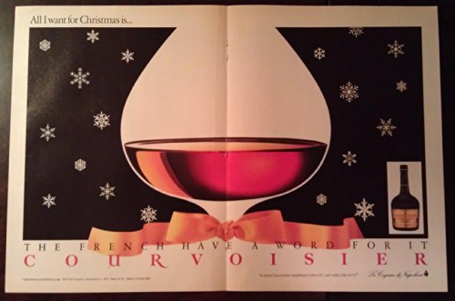 Magazine Print Ad: 1982 Courvoisier, Cognac of Napoleon: 'All I want for Christmas'