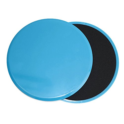 Gliding Discs Core Workout Exercise Sliders 4-FQ 2 Dual Sided Gliding Sliding Discs for Core Fitness, Ultimate Core Trainer, Gym, Carpet and Hardwood Floors Home Abdominal Exercise Equipment