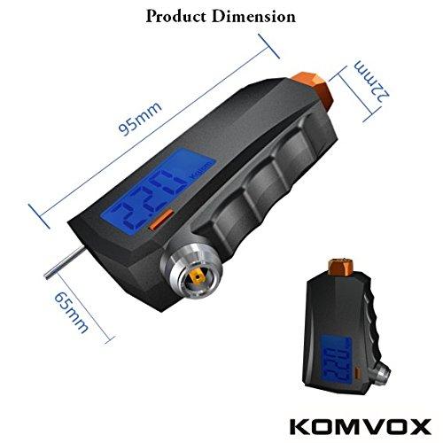 KOMVOX - Calibre digital de presión de neumáticos, medidor de profundidad de neumático, calibre 3 en 1 para neumáticos de Michelin con martillo de ...