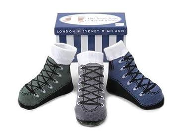 7e1b1c41c181 Amazon.com  Baby Infant Boy Socks Ant-Slip Soles 3 Pairs - Cotton ...