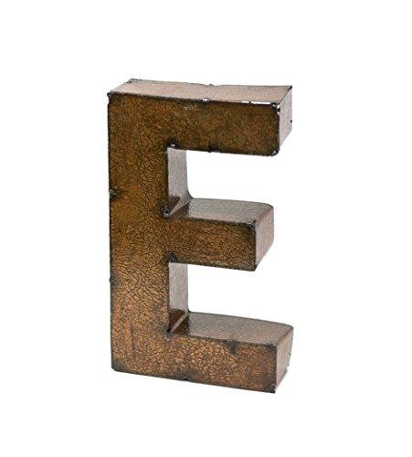 Rustic Arrow Letter E for Decor, 9-Inch, Brown (Letters Decor Family)