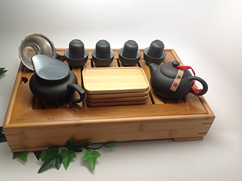 Yixing Tea Set - Yixing Tea Set 15pcs with Medium Tea Tray BLW