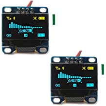 "DIYmall 0.96"" Inch Blue and YellowI2c IIC Serial 128x64 OLED LCD OLED LED Module for Arduino Display Raspberry PI 51 Msp420 Stim32 SCR Micro:bit(Pack of 2pcs)"