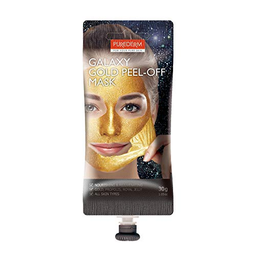 PUREDERM Galaxy Gold Peel-Off Mask 1.76oz / Korean beauty/Spout type/Peel off mask, Glitter mask, Peeling mask, Daily mask, Pore clean mask, Unique mask, Gold ()