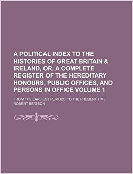 Amazon com: A political index to the histories of Great Britain