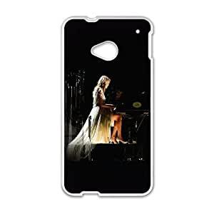 HTC One M7 Cell Phone Case White Taylor Swift Piano Concert Woman Music Ttkie