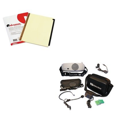 KITAPLS207UNV20821 - Value Kit - Amplivox BeltBlaster PRO Personal Waistband Amplifier (APLS207) and Universal Leather-Look Mylar Tab Dividers - Amplivox Personal Amplifier