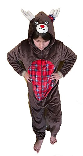 6304-2T-Reindeer Just Love Onesie for Kids / Pajamas Girls Reindeer Costume