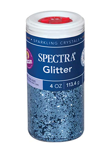 Pacon Spectra Glitter Sparkling Crystals, Sky Blue, 4-Ounce Jar (91670)