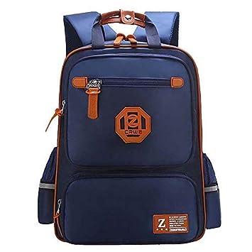 b63c49f25918 Elementary School Bags Bookbag Waterproof Lightweight Reflective Blue  Backpacks for Girls Kids(Sapphire Blue