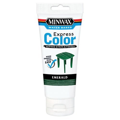 Minwax 308064444  Express Color Wiping Stain and Finish, Emerald (Outdoor Colors Wood Furniture Stain)