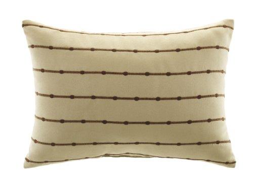 Croscill Home Fashions Bali Cream Boudoir Pillow, 20-Inch by