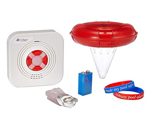 Lifebuoy Pool Alarm System - Pool Motion Sensor - Smart Pool Alarm That is Application Controlled. Powerful Sirens Blare at Poolside and Indoors (Above Ground Pool Alarm)
