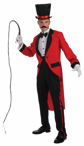 Men's Ringmaster Costume, Red, One Size (Cummerbund Costume)