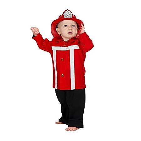 NEU Kleinkind-Kostüm Feuerwehrmann, rot Gr. 74-80 Wilbers