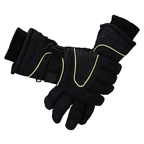Reinforced Shell - Dolloly Winter Gloves, Winter Snow Mittens Men's Women's Waterproof Skiing Gloves Full Finger Thick Warm Gloves Windproof Shell Reinforced Palm Outdoor Athletic Gloves for Skiing Snowboarding