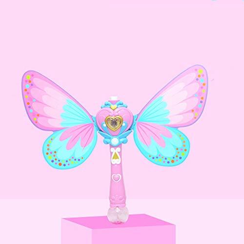 Zpzzy New Fairy Magic Bubble Stick Automatic Bubble Machine Electric Blow Bubble Not Leaking Children Girl Toys