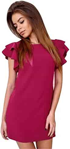 b7ce5647592c Sunward Women Sexy Fashion A Line Sleeveless Dress Casual Mini Dress
