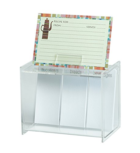 Investment Meadowsweet Kitchens Acrylic Create Your Own Recipe Card Box cheapest