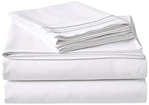 Elegant Comfort 1500 Thread Count Luxury Egyptian Quality Wrinkle and Fade Resistant 4-Piece Sheet Set, Queen, White