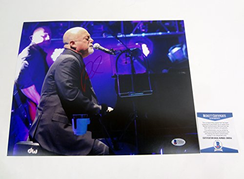 Billy Joel The Piano Man Signed Autograph 11x14 Photo Beckett BAS COA #3