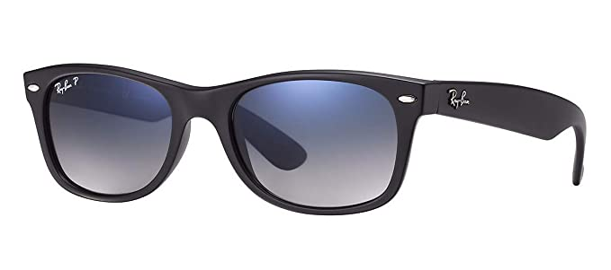 d269a2824 Ray-Ban RB2132 (601S78) Matte Black/Polarized Blue Gradient Gray 52mm  Sunglasses