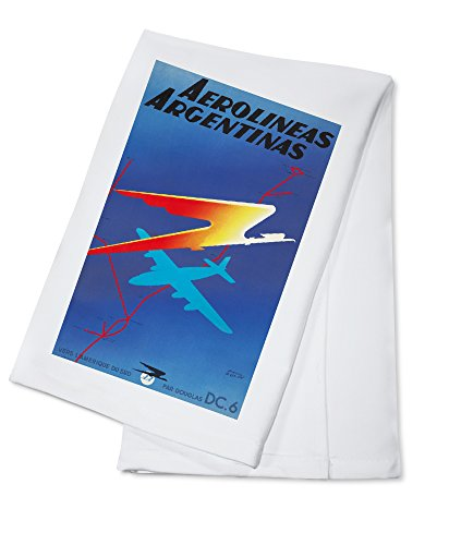 aerolineas-argentinas-vintage-poster-artist-colin-france-c-1950-100-cotton-absorbent-kitchen-towel