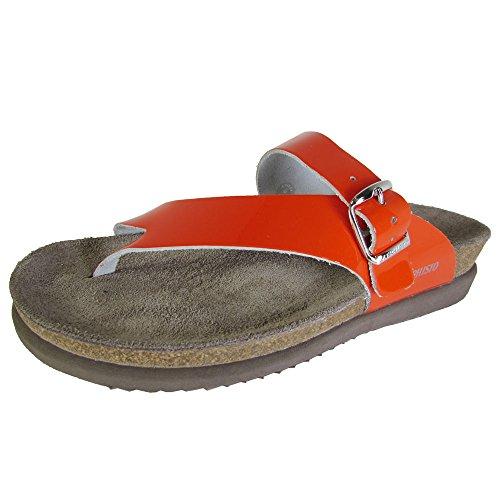 Mephisto Women's Helen Flip Flop, Orange Patent, 11 M (Orange Patent Footwear)