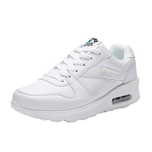 Blanc Semelle Femme Sportwear Plates en Lacets à Sneakers Automne Cuir Overdose à Casual Baskets Compensées Hiver Chaussures Épaisse TgxqB1