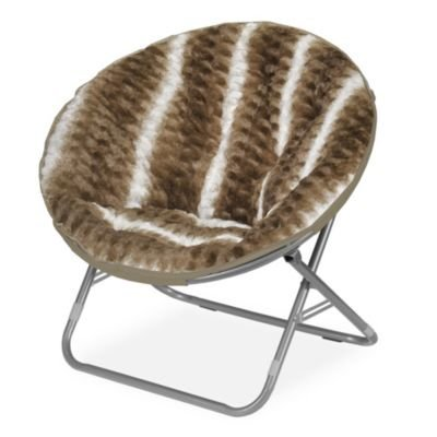 Price comparison product image Cocoon WK655673 Ombre Wave Textured Faux Fur Saucer Chair,  Light Brown