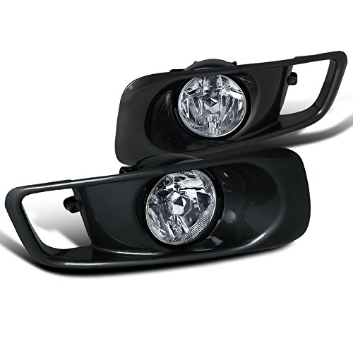 2000 Honda Civic Fog Lights (Spec-D Tuning LF-CV99OEM Honda Civic Ex Dx Lx Clear Oem Style Fog Lights, Switch, Relay)