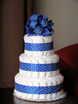 Just Diapers 3 Tier Baby Diaper Cake Baby Shower Gift