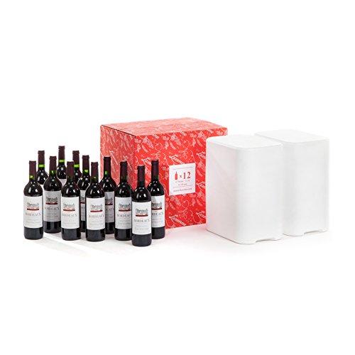 Wine Check - Borsa da imbarco per vino + Protettore Lazenne per 12 Bottiglie Classic