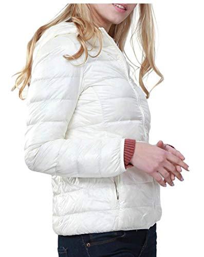 Coat Jackets EKU Lightweight Down Packable Women's 10 Winter Outwears Down Hooded wqZRaIq