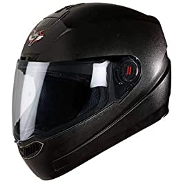 Steelbird SBA-1 7Wings Full Face Helmet in Matt Finish (Medium 580 MM, Axis Grey Helmet Fitted with Clear Visor and…