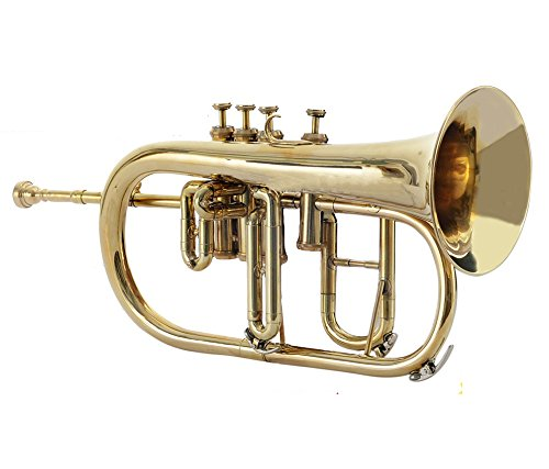 Moonflag FLUGEL HORN 4 VALVE Bb PITCH BRASS WITH FREE HARD CASE + MP + TUNED by NASIR ALI (Image #5)