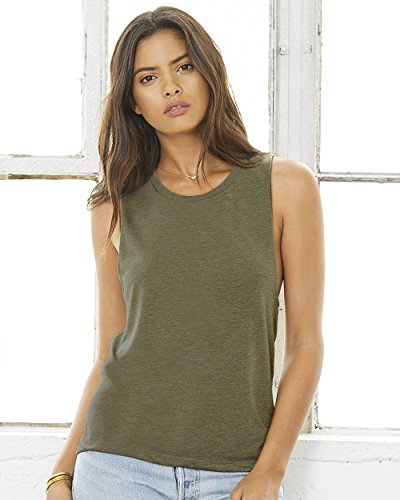 Bella + Canvas. Military Green. M. 8803. (Bella Womens Tank Top)