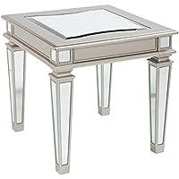 Tessani End Table Silver/Rectangular/Contemporary
