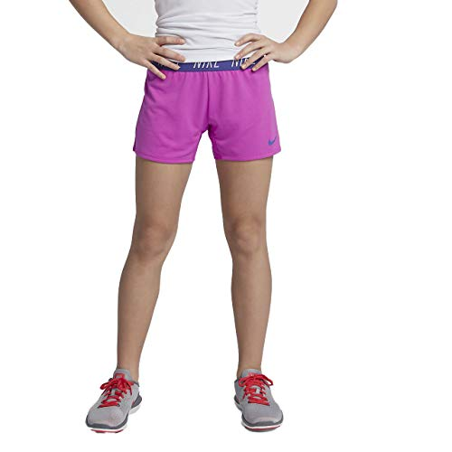 Kids Fusion Nike - NIKE Girls' Dri-FIT Trophy Training Shorts (Hyper Magenta(910252-531)/Fusion, Medium)