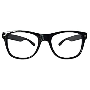 Comfortable Young Classic Retro Fashion Style Ultra-light Glasses Eyewear Frames -NO LENSES (BLACK)