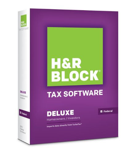 H&R Block Tax Software 2013 Deluxe [OLD VERSION]