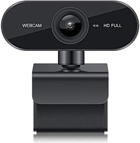 USB WebcamMicrophone 1080P Full HD PC Camera Plug & Play for Desktop Laptop Computer Mac Streaming Video Calling Conferencing Online Teaching