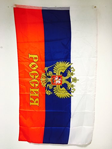 AZ FLAG Russia with Eagle Flag 3' x 5' - Russian Coat of arms Flags 90 x 150 cm - Banner 3x5 ft Light Polyester