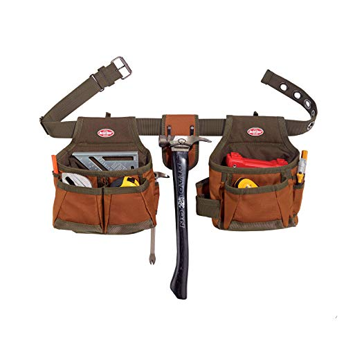 Bucket Boss 2 Bag Tool Belt in Brown, 50200